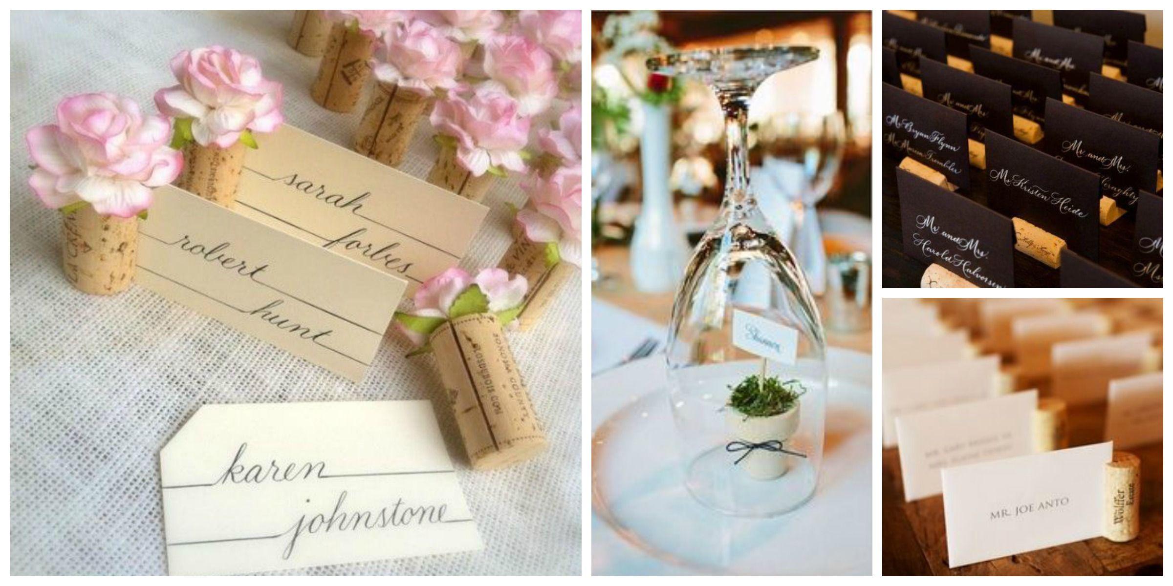 Matrimonio Tema Tè : Segnaposti in sughero matrimonio a tema vino wine