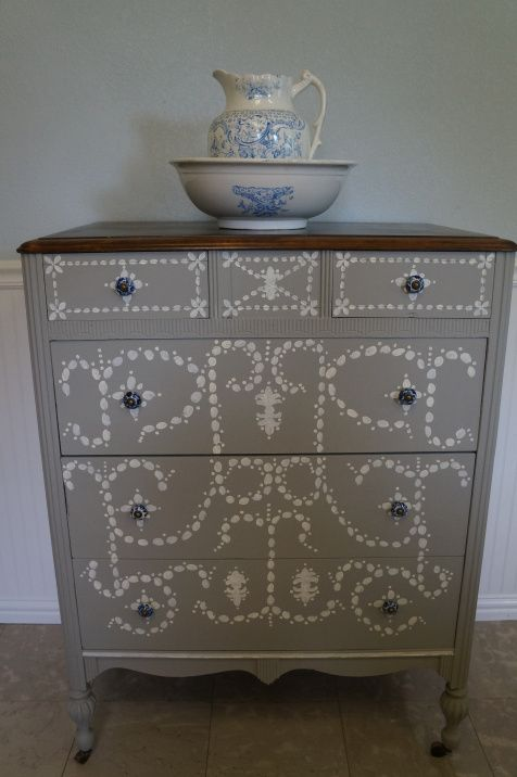 French Linen. Hand painted