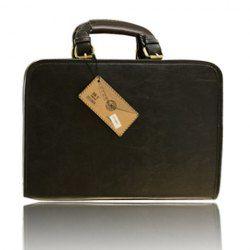 $20.86 Vintage Men's Briefcase With Solid Color and Buckle Design