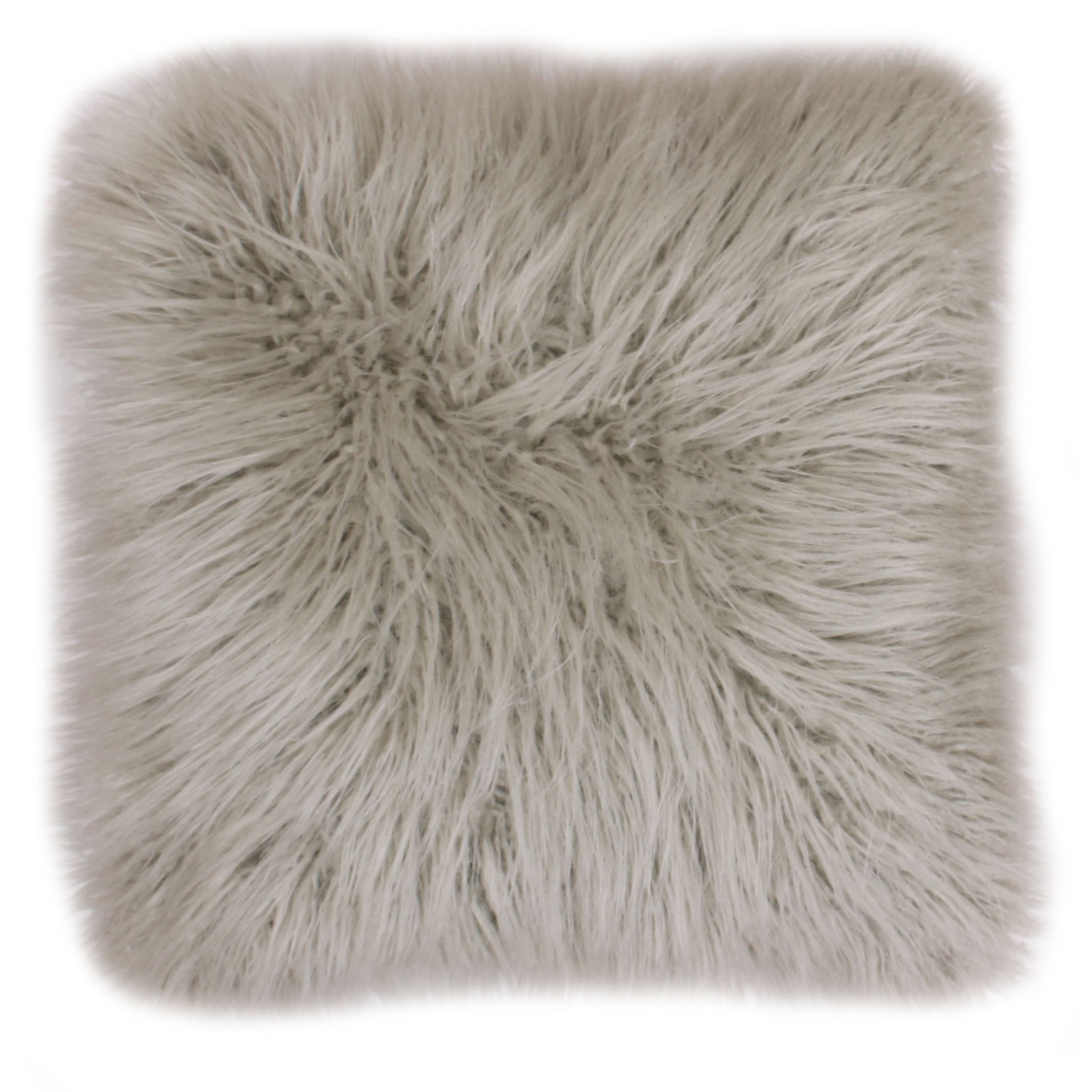 Enhance your home decor with this extra large faux fur throw pillow. Dyed to match its micromink back, this throw is available in a variety of colors.