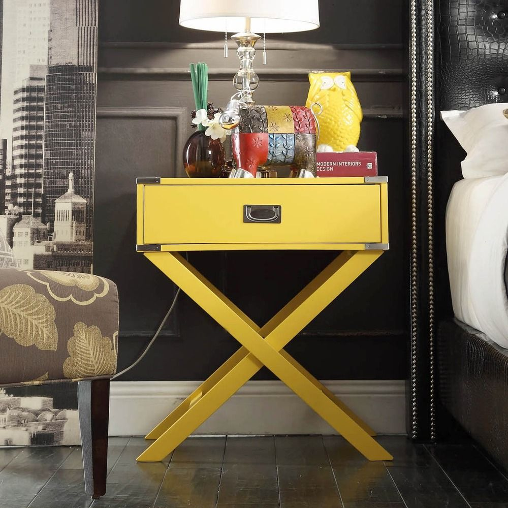 INSPIRE Q Kenton x Base Wood Accent Campaign Table - Overstock Shopping -  Great Deals