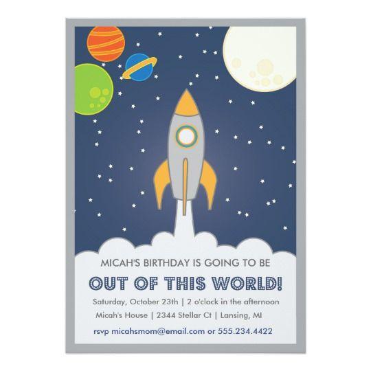 Rocket ship space birthday invite ships birthdays and spaces rocket ship space birthday invite filmwisefo