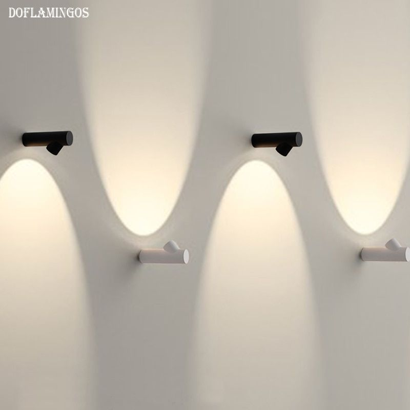 New Cree Led Wall Lamp Lampada Bedroom Beside Wall Light Home Indoor Decoration Lighting Corridor Aluminum Wall Sconce Ac90 260v In Led Indoor Wall Lamps From L