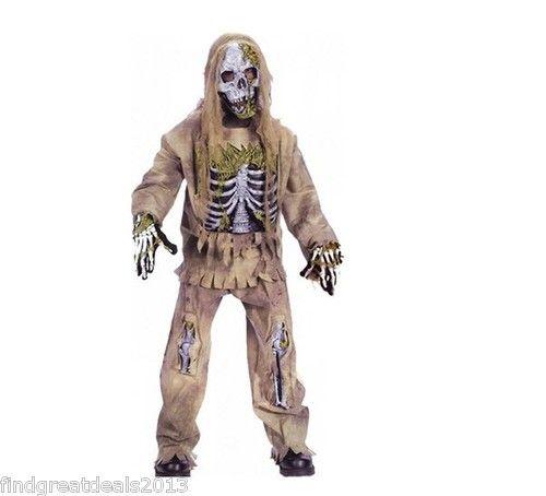 Skeleton Zombie Child Costume Kid\u0027s Halloween Costume Sz Medium 8 10 - zombie halloween ideas