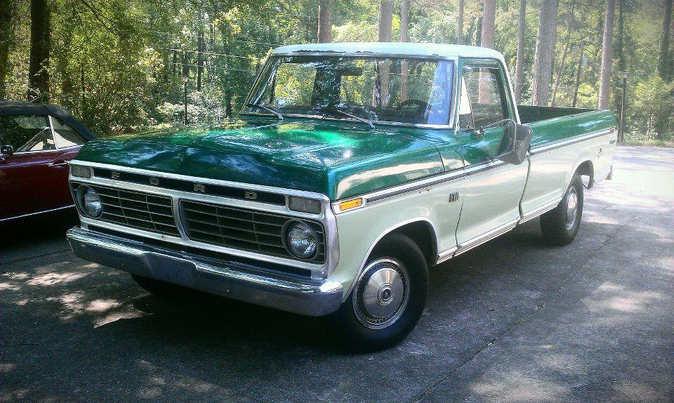 Southern Vintage rental Green 1970s Ford truck great for