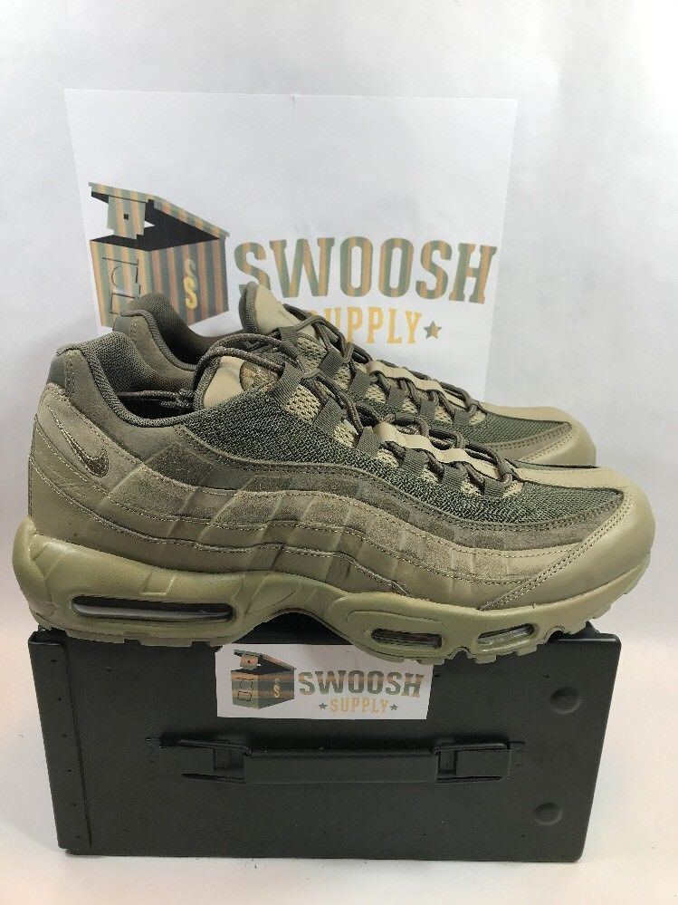 7ebc7c81fb33a8 NIKE AIR MAX 95 PRM NEUTRAL OLIVE 538416 201 MEN SNEAKER SIZE 14  NIKE   WALKINGSHOES
