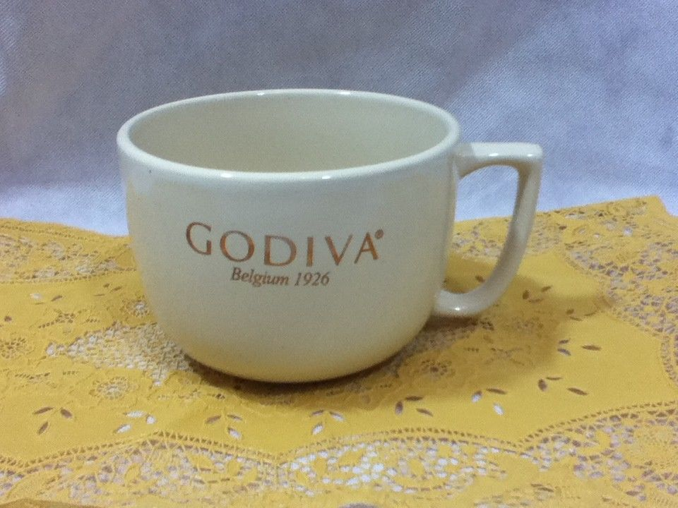 Godiva Belgium Oversized Extra Large 36 Oz Ceramic Coffee Tes Cup