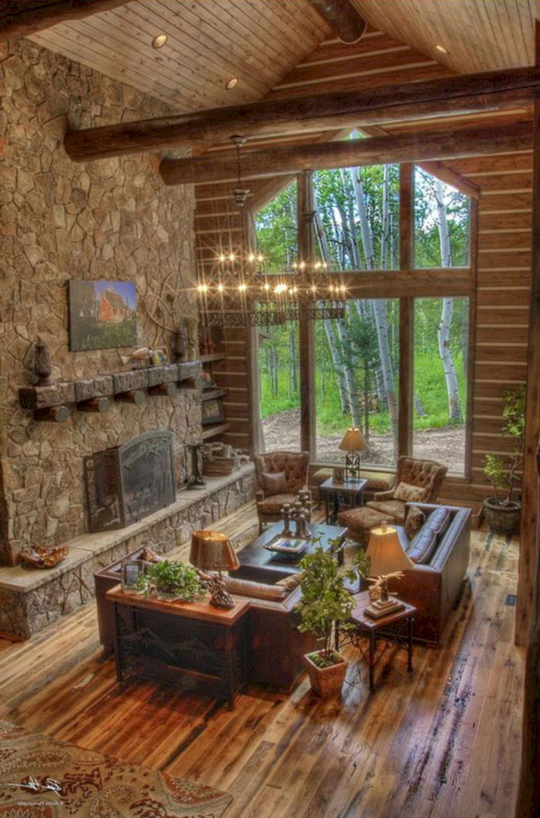 49 Superb Cozy And Rustic Cabin Style Living Rooms Ideas Freshouz Com Rustic House Cabin Style Rustic Cabin