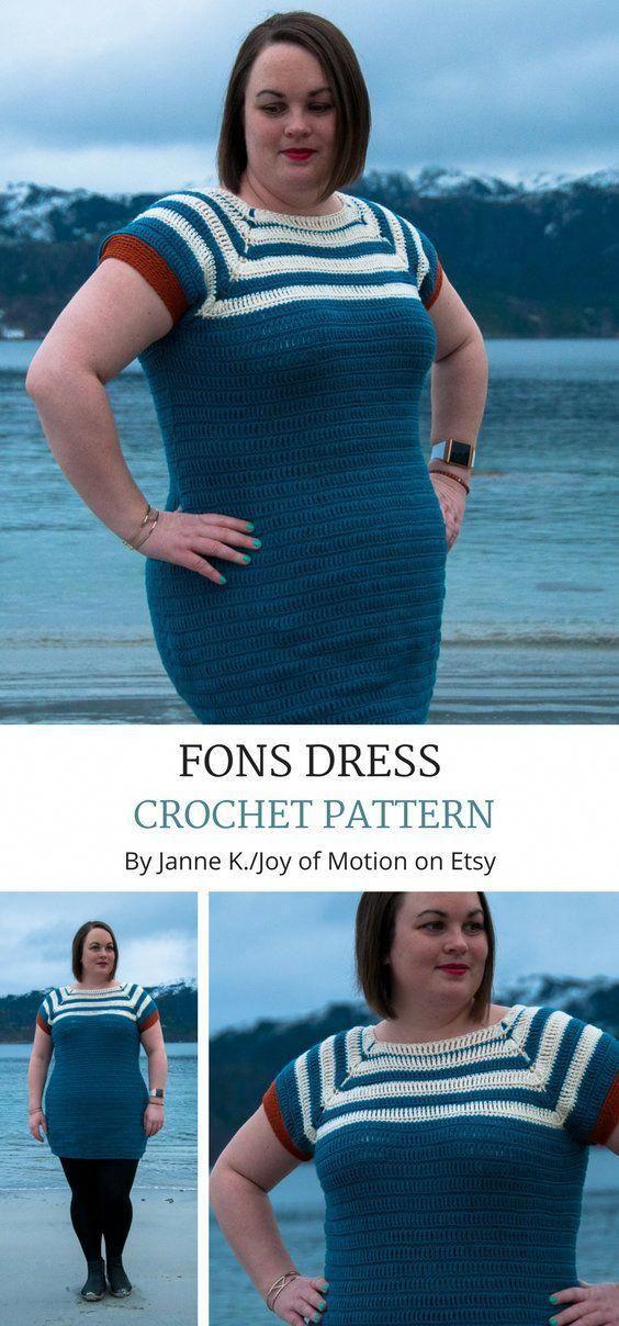 CROCHET PATTERN Fons Dress Crochet Pattern PDF Crochet Plus ...