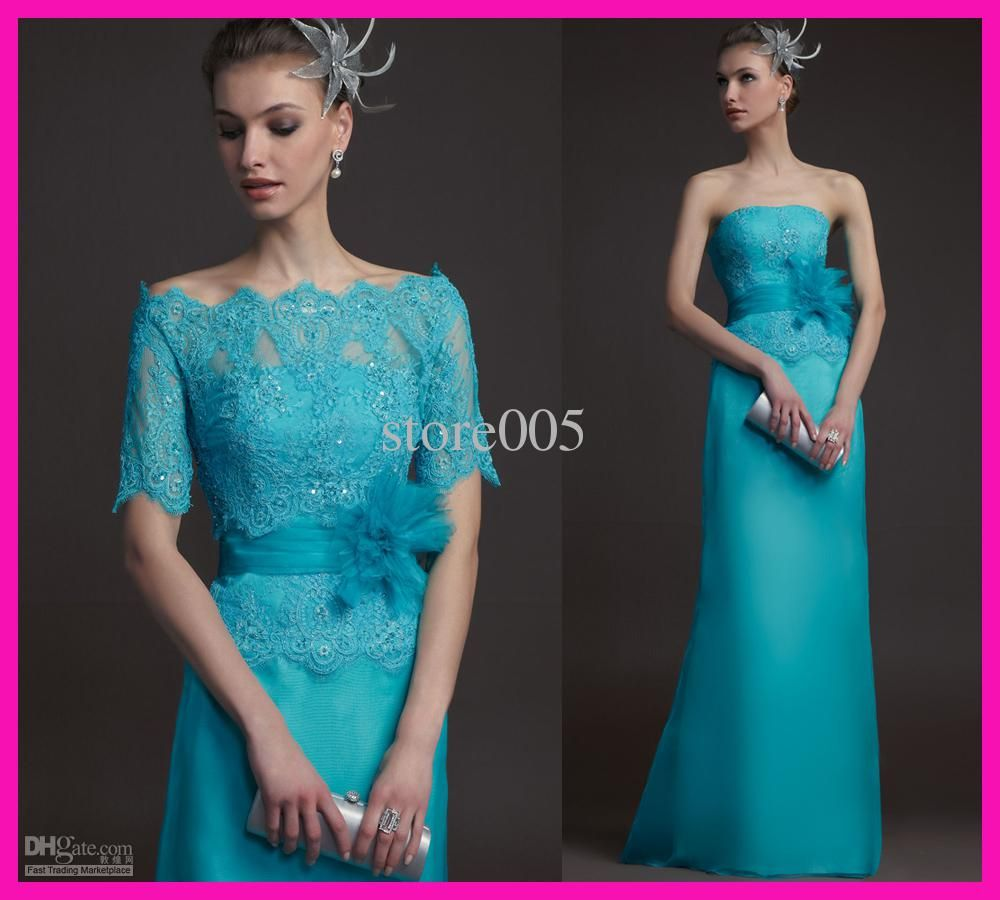 Alfred Sung Mother Of The Bride Dresses 2014 Vintage Turquoise Lace ...