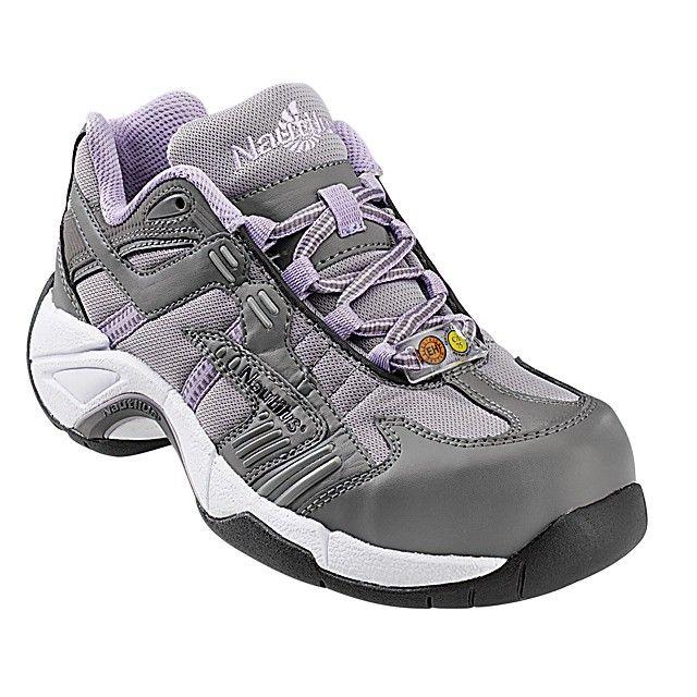 123f29449528 Women s Nautilus Alloy Lite Safety Toe Athletic Shoe EH 1452 - Grey-Lavender