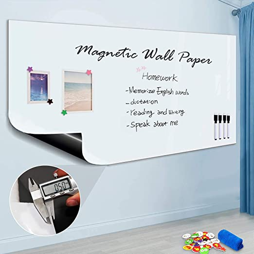 Amazon Com Zhidian Magnetic Whiteboard Sticker For Wall Door 36 X 24 Large Self Adhesive Whit In 2020 Whiteboard Sticker Magnetic White Board Dry Erase Whiteboard