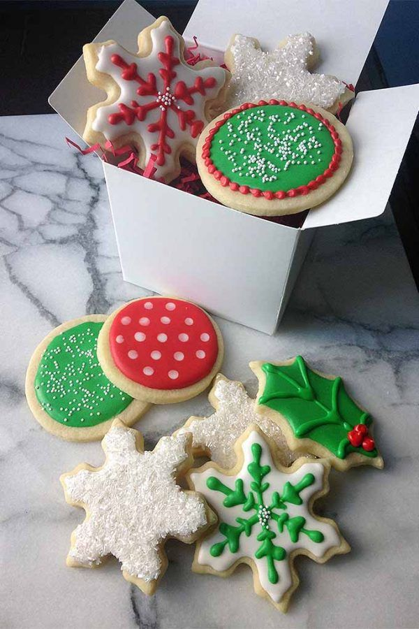royal icing thumbprint cookiesxmas