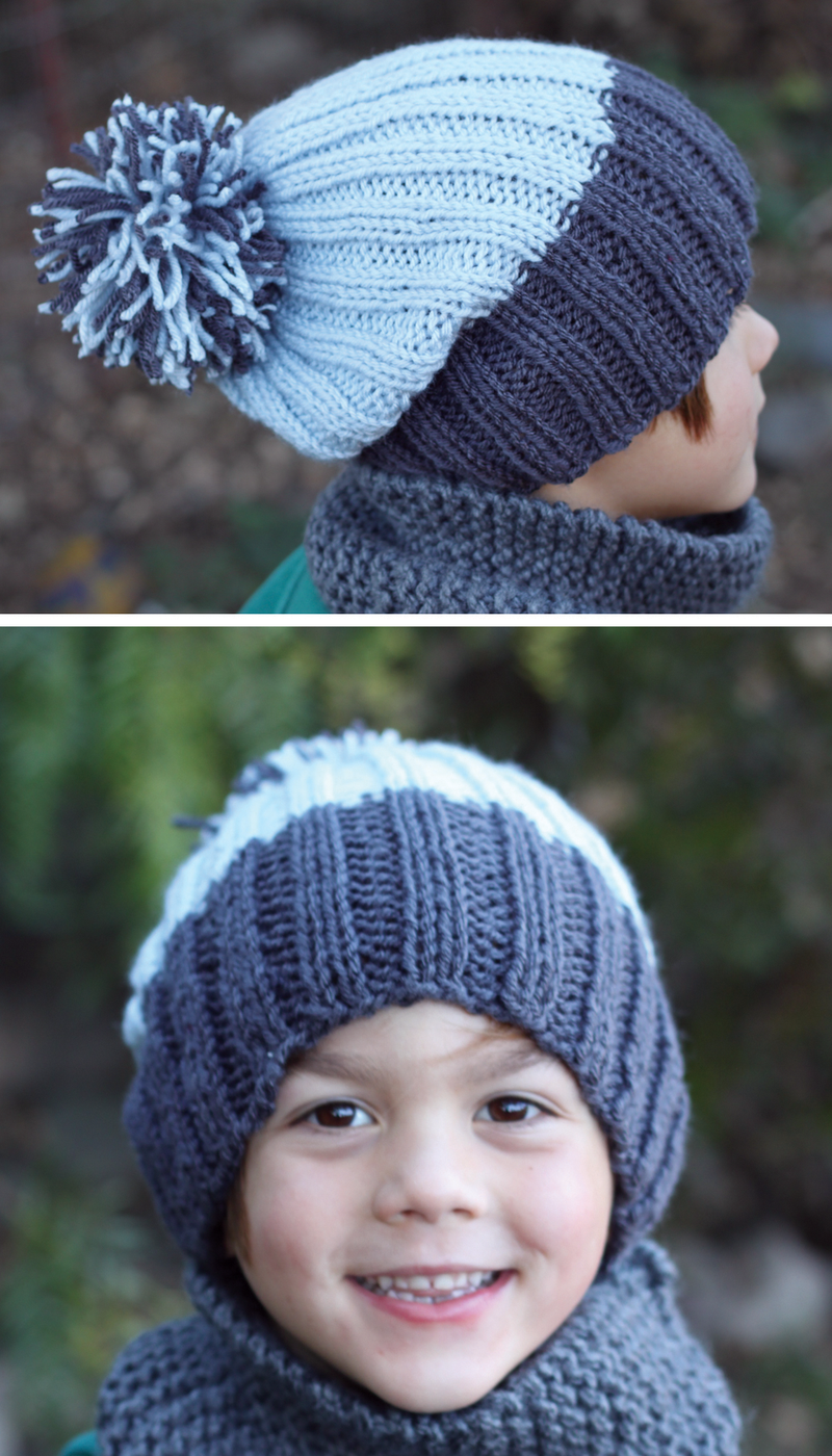 Slouchy-ribbed-hat-pattern   Knitted hats, Knitting ...