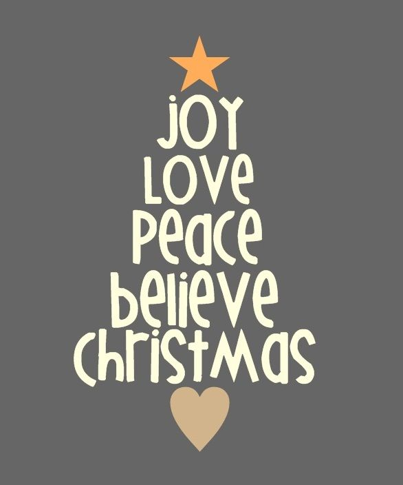 christmas joy love peace believe christmas