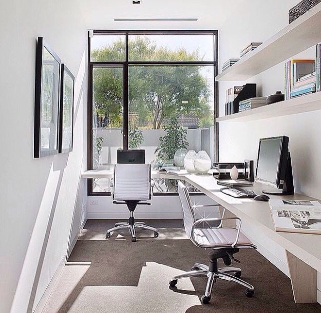 Small Home Office with Windows