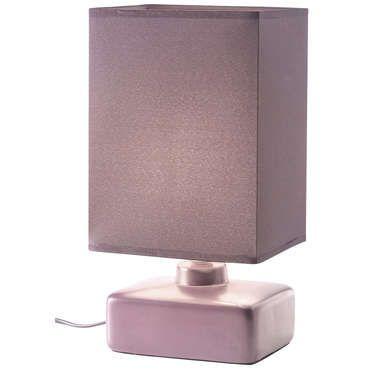 Petite lampe MANON coloris prune pas cher C est sur Conforama
