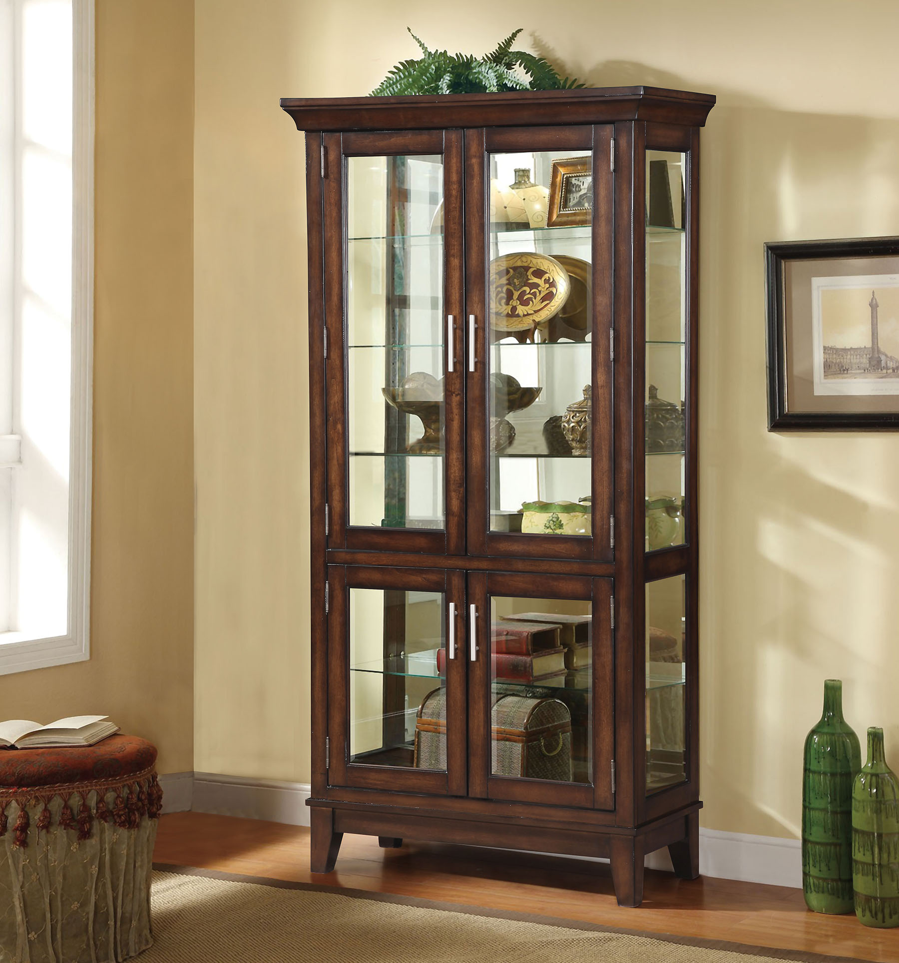 Jaxon Curio Cabinet Acme Furniture Home Gallery Stores