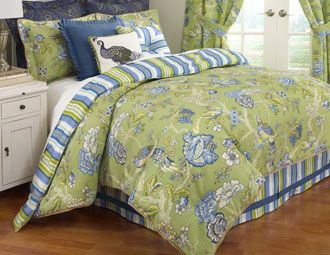 I Pinned This From The Waverly Bedding Spring Inspired Bedding Sets Pillows Curtains Event At Joss And Main Waverly Bedding Comforter Sets Green Bedding