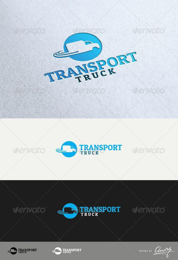 Truck Transport Logo Design   logo   Pinterest   Truck ...