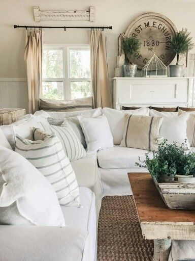 Popular I can t tell you how long I ve been looking for a new slipcover for our Ikea sofas Yes of course I could just go to Ikea & one Amazing - Simple Elegant country farmhouse decor Top Search