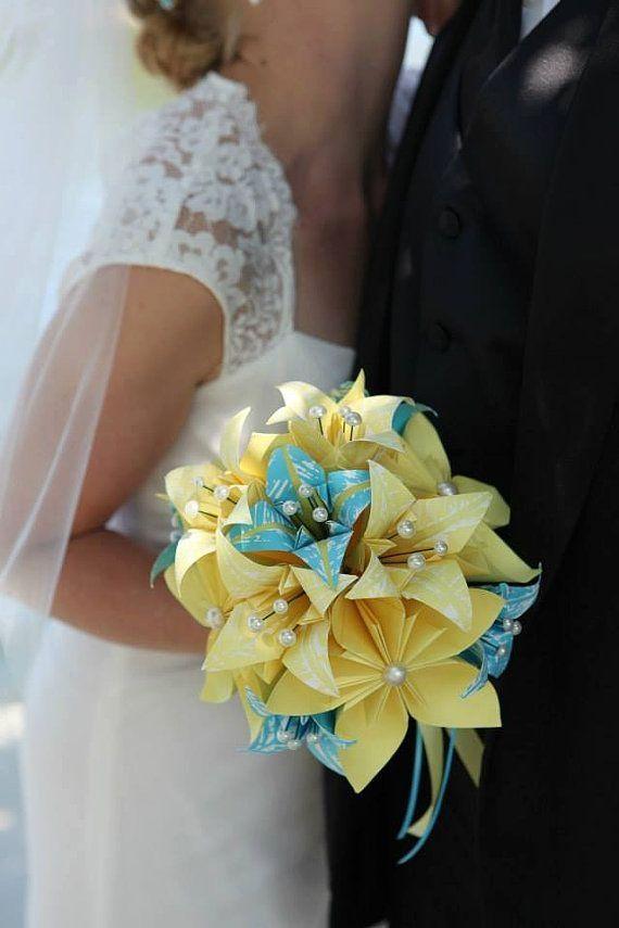 fleurs en papier fleur bouquet de brides papier fait main lys de papier pour elle. Black Bedroom Furniture Sets. Home Design Ideas