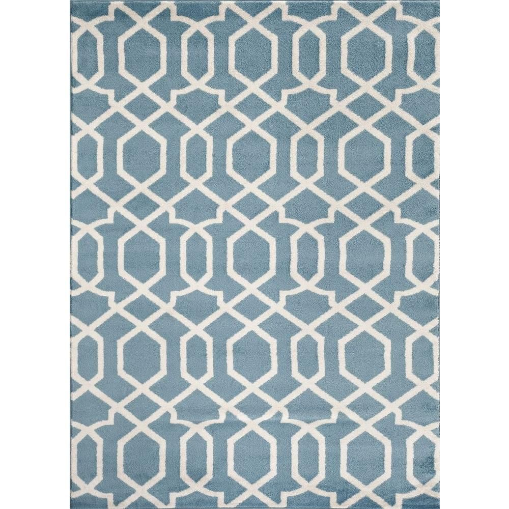 World Rug Gallery Contemporary Trellis Design Blue 2 Ft X 3 Ft Indoor Area Rug 304 Blue 2 X3 The H Contemporary Trellis Indoor Area Rugs World Rug Gallery