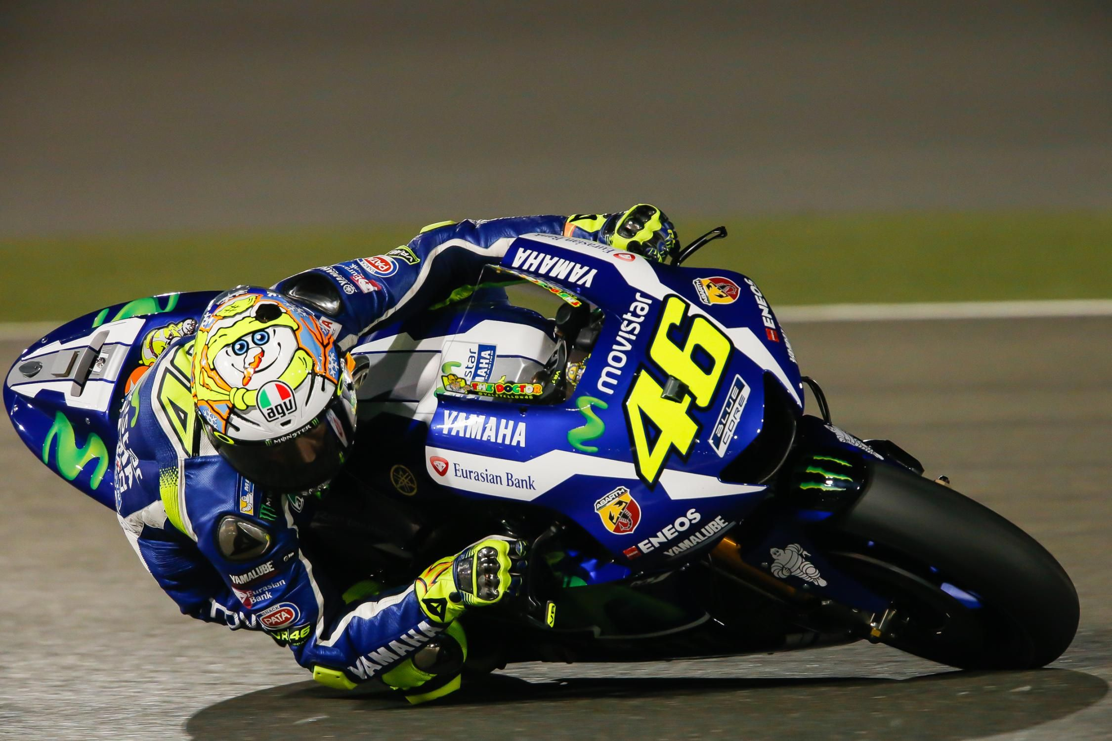 46 Valentino Rossi, Yamaha Factory Racing - MotoGP, Qatar Test 2016 | MotoGP | Moto2 | Moto3 ...