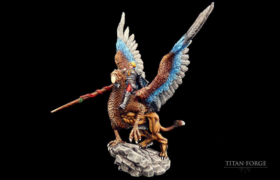 Titan Forge Fantasy Elves High Chaos BNIB Defenders of the Realm Griffon Lady | eBay
