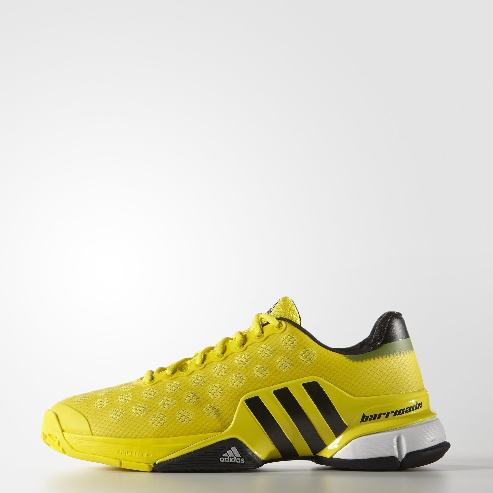 Adidas Mens Barricade 2015 Tennis Shoes - Bright Yellow