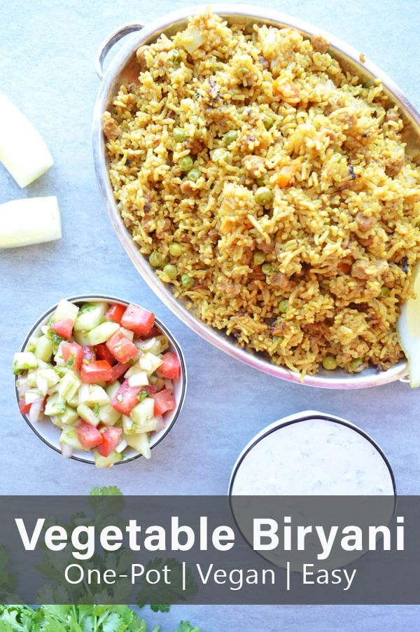 Easy One Pot Vegetable Biryani