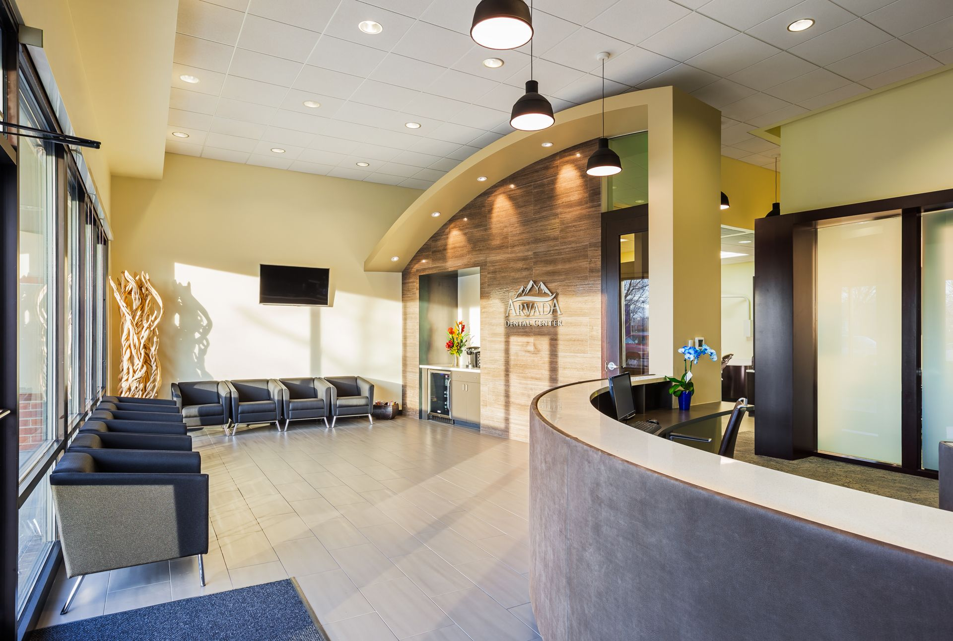 Unique Dental Office Reception Design