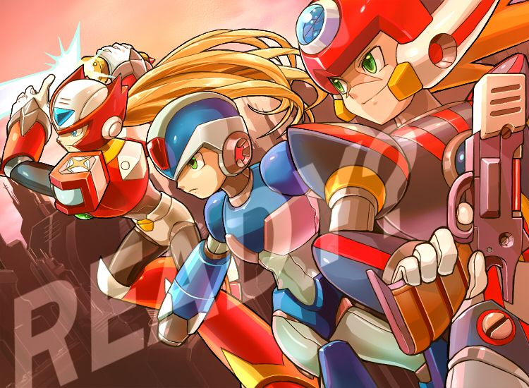 Zero X Axl Pixiv Id 1186343 Mega Man Art Mega Man Anime