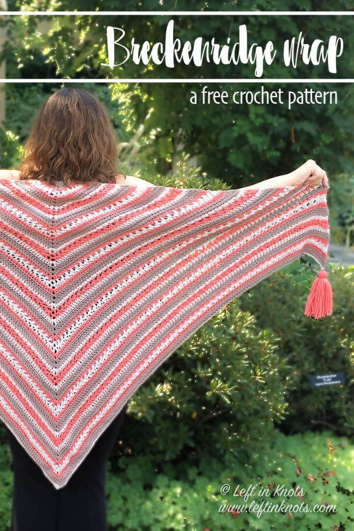 Breckenridge Wrap Free Triangle Shawl Crochet Pattern Boho