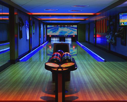 Pin By Joey Gomez On Man Cave Home Bowling Alley Home Theater Design Media Room Design