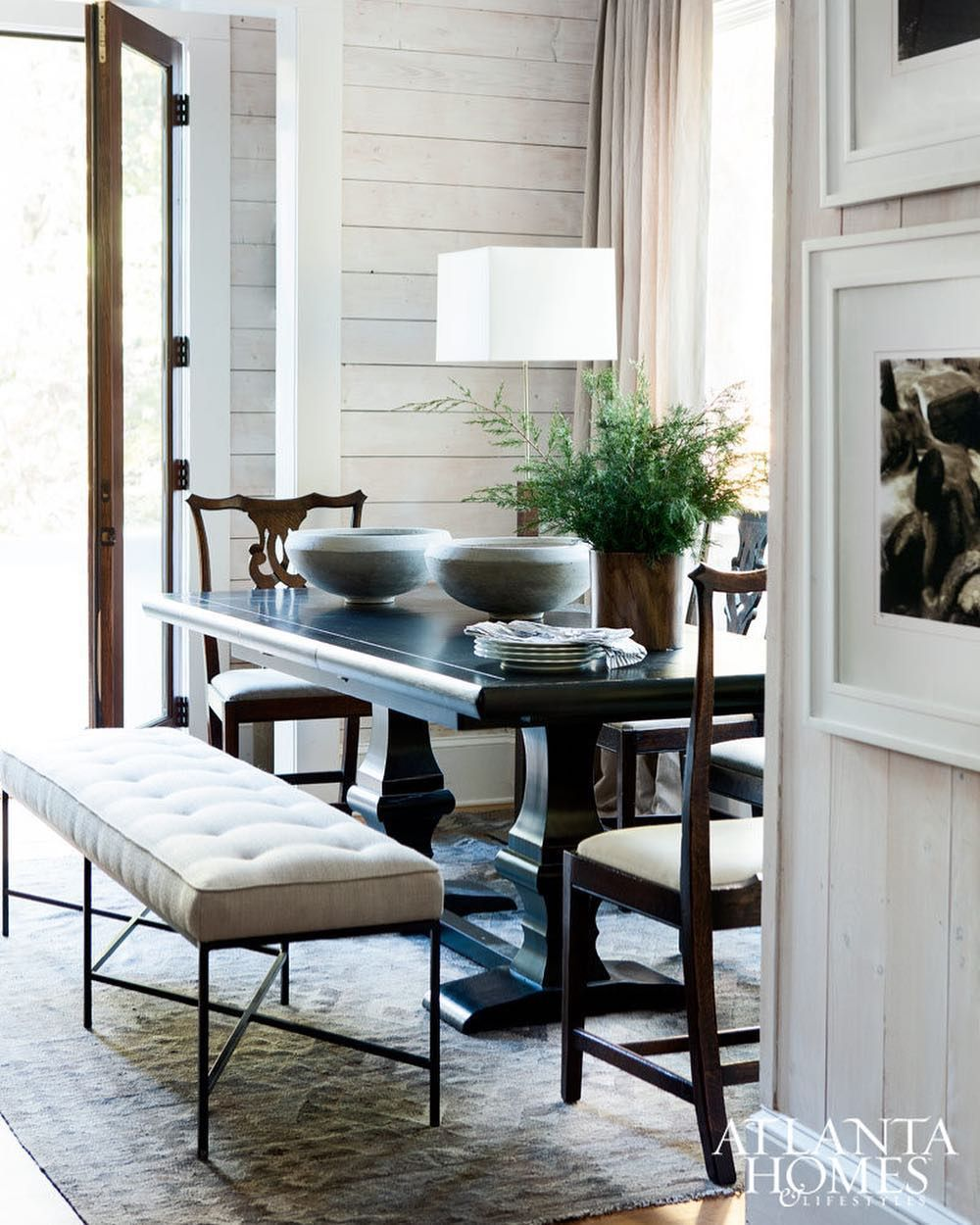16 Absolutely Gorgeous Mediterranean Dining Room Designs: Absolutely Love This Breakfast Alcove ! 🖤 Bob Brown's Lake