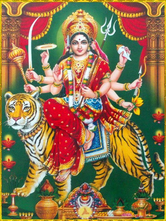 Durga Devi Jai Maa Shiva Art Hindu Art Durga Goddess