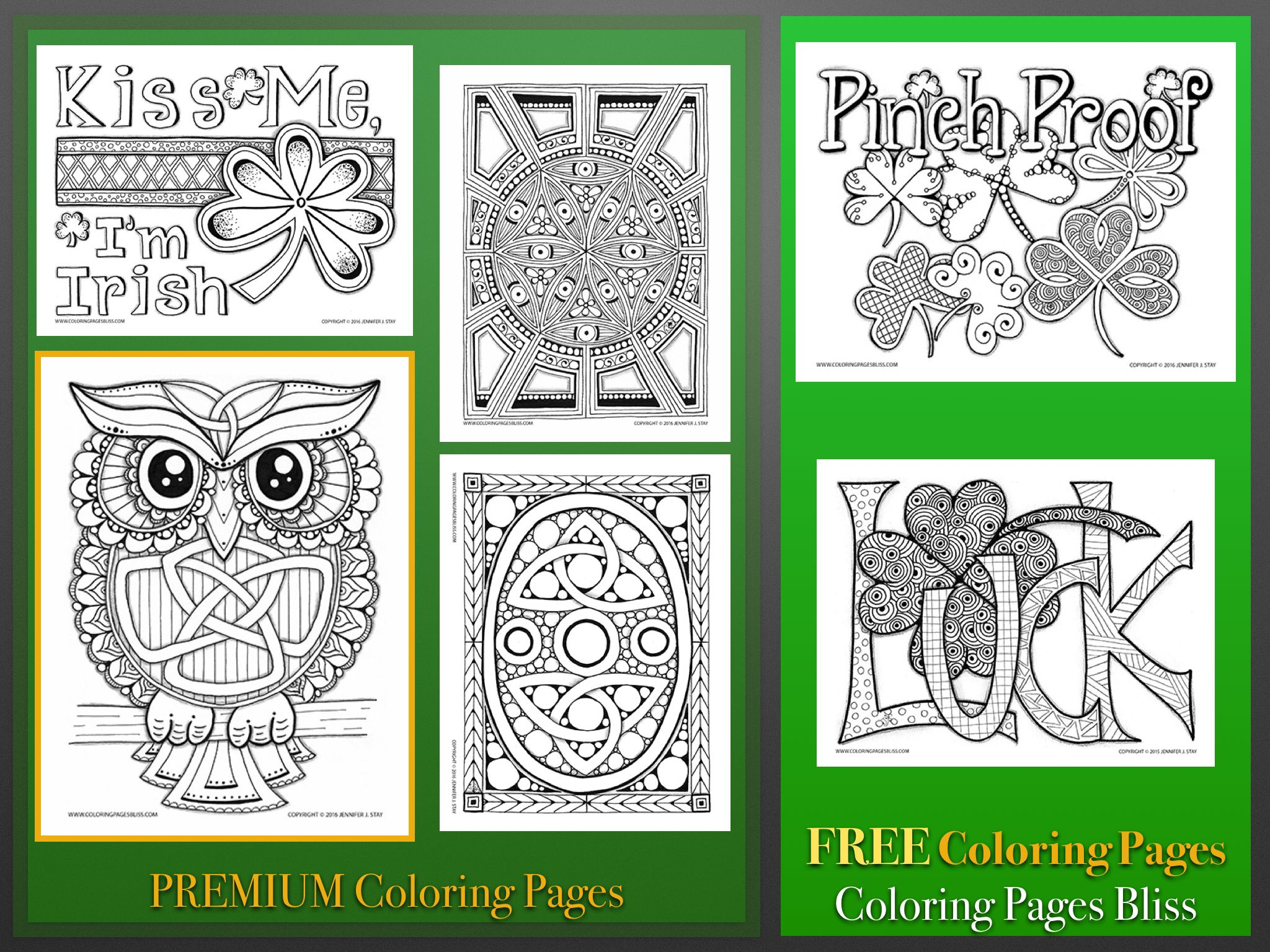 St. Patrick\'s Day printables. Downloadable coloring pages for adults ...