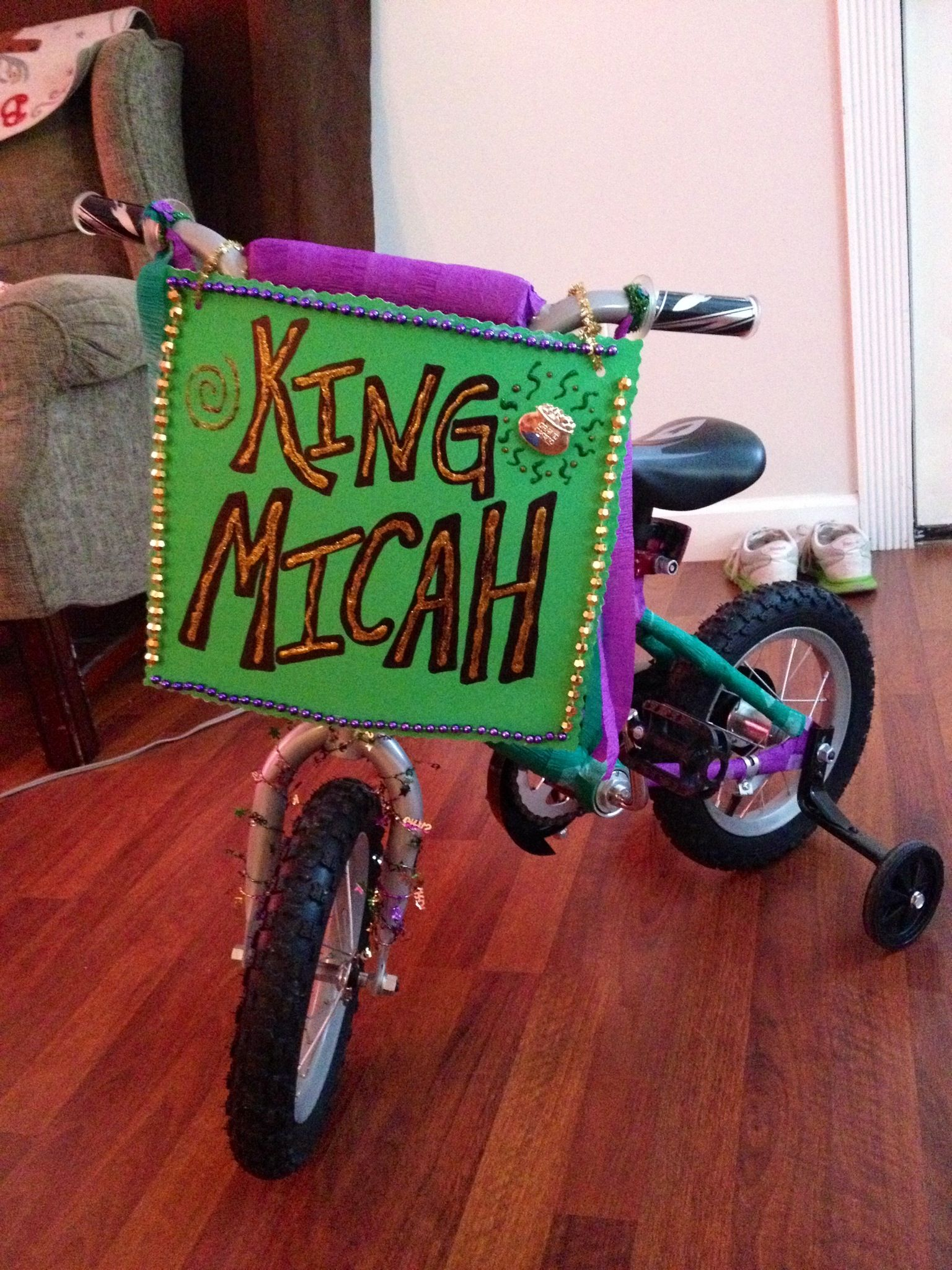 My Son S Bike I Decorated For Him To Ride In The Children S Mardi