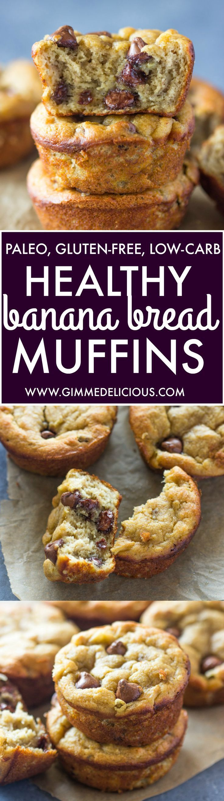 Paleo Banana Bread Muffins Gluten free Low Carb