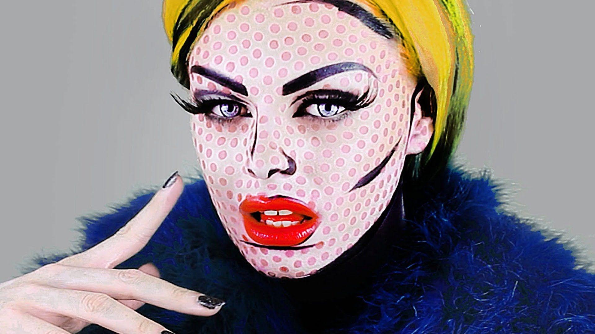 Pop Art Halloween Makeup Ideas   Roy lichtenstein, Pop art and ...