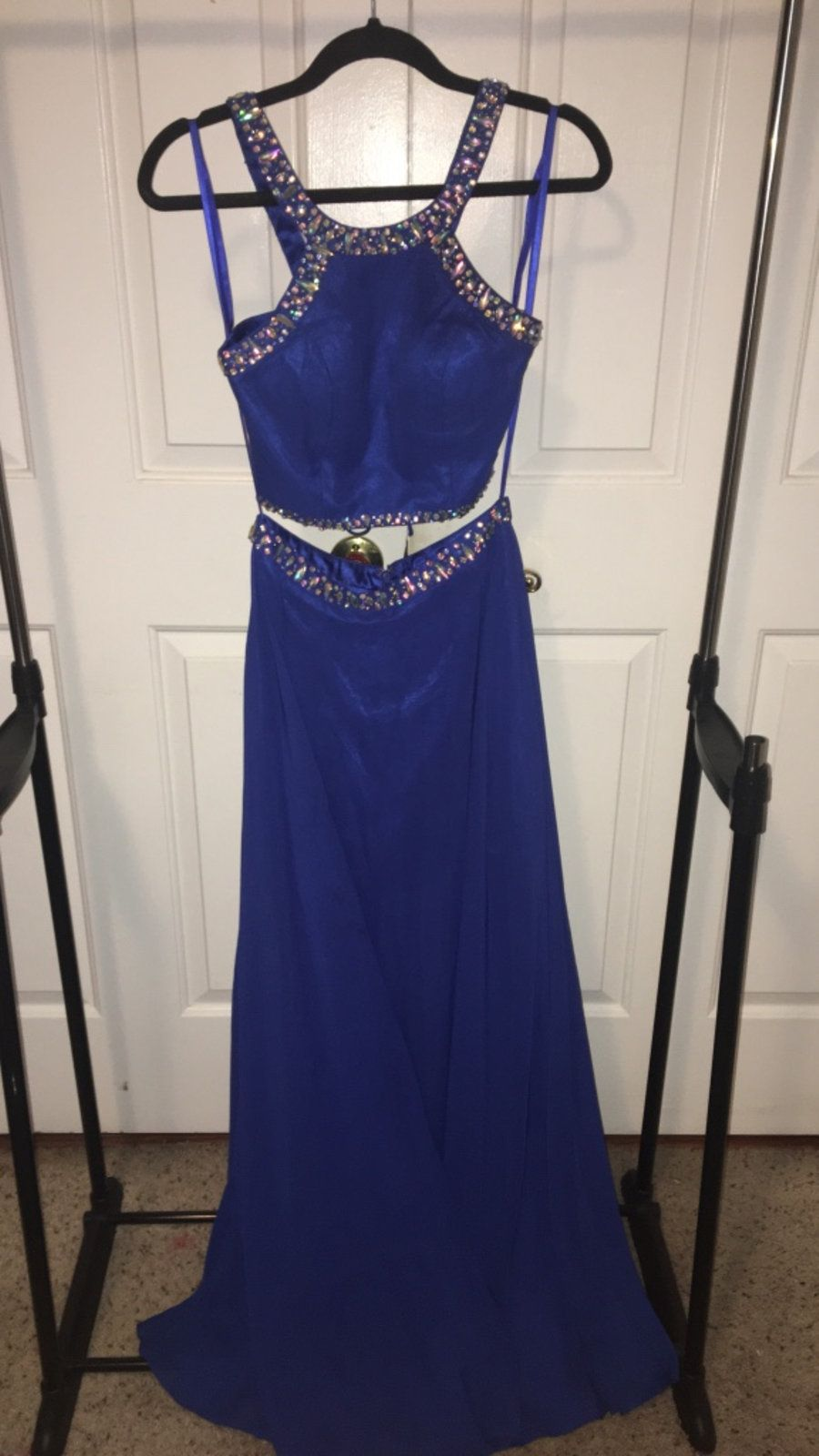 Navy blue two piece homecomingprom dress worn once size in