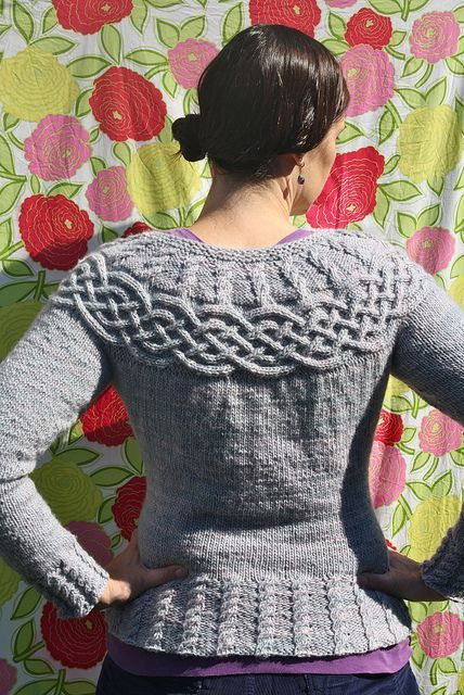 d7a998ef8 Cabled Yoke Pullover pattern by Patons