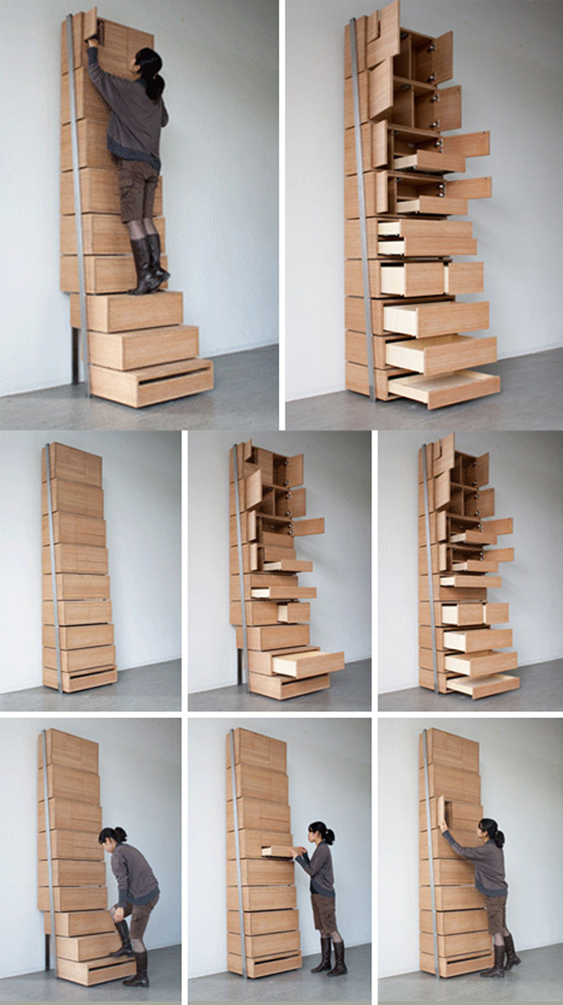 Vertical Staircase Shelf By Danny Kuo Crafts Pinterest Diy - Staircase-storage-by-danny-kuo