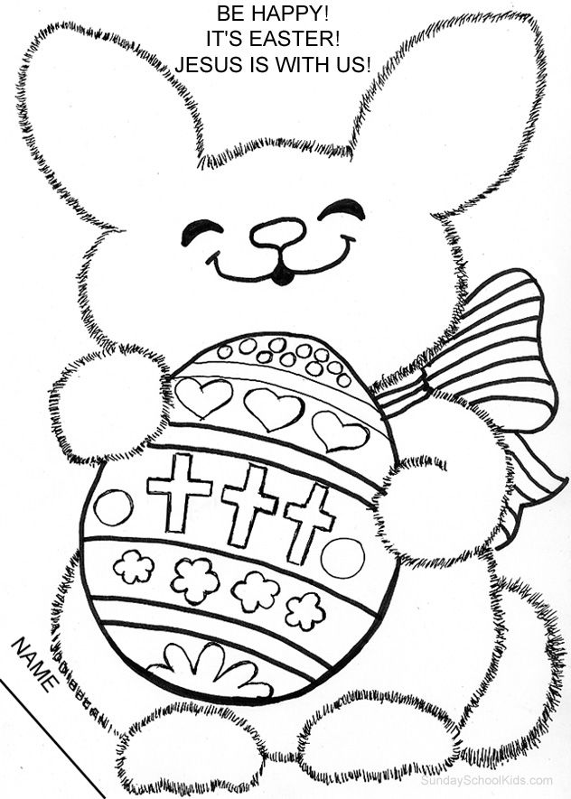 catholic easter bunny coloring page