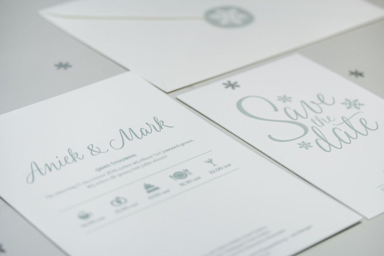 Handgemaakte Letterpress Trouwkaarten Studio Moose Letterpress