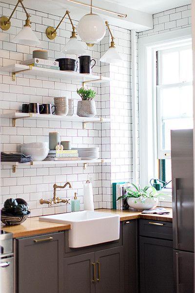 Diy kitchen remodel Inspirational - Simple white kitchen shelves In 2019
