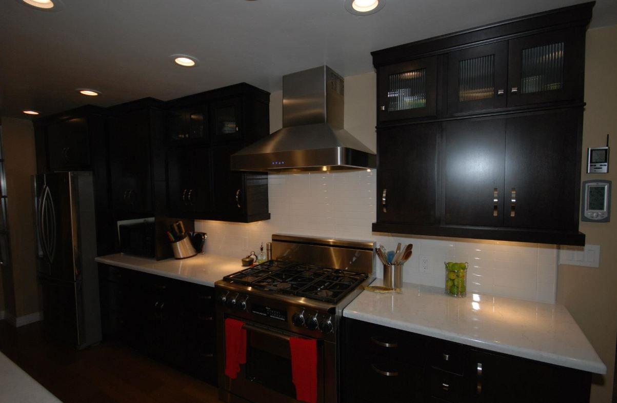 Cardell Ebony Maple Urbano Cabinets And Cambria Torquay Countertops Kitchen Cabinets In Bathroom Maple Kitchen Kitchen Remodel
