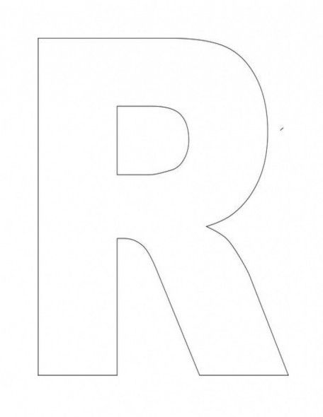 Alphabet-Letter-R-Template-For-Kids1 | ABC Crafts | Letter ...