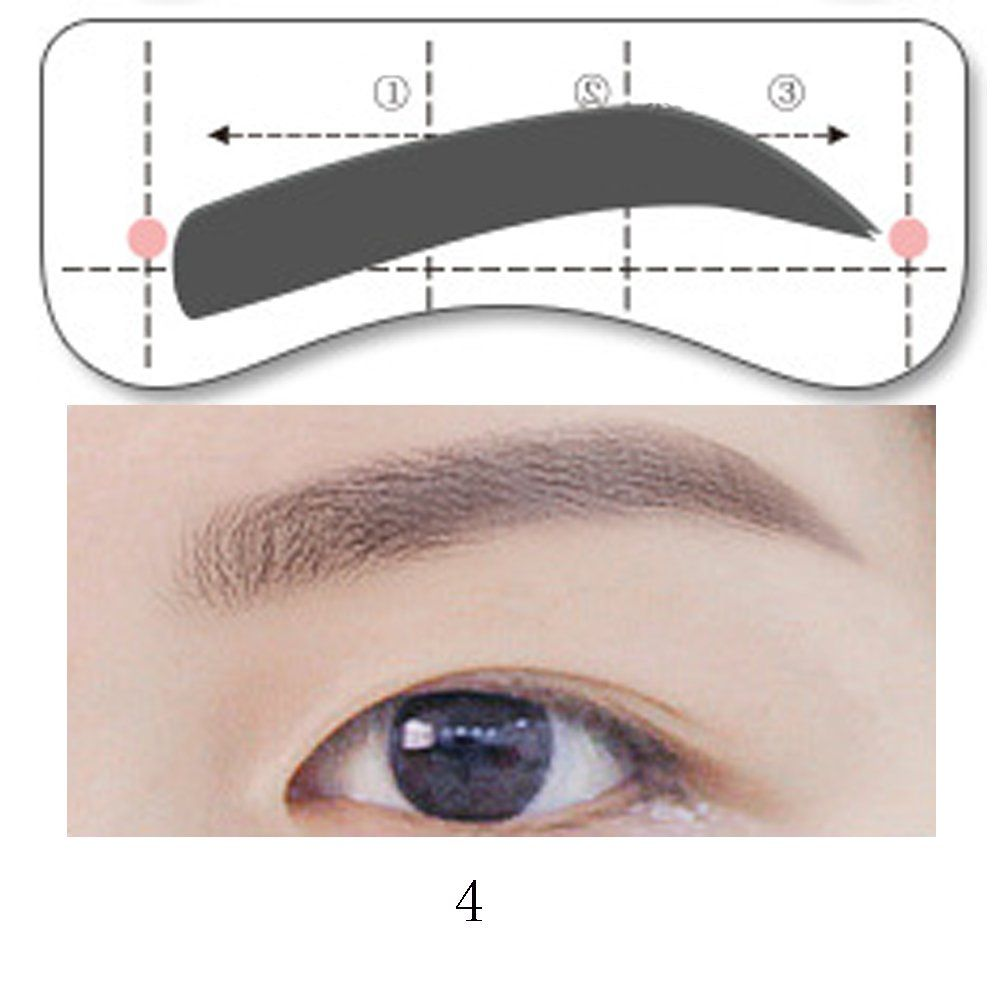 Huanghm 32pairs Stencil Options Handsfree Adhesive Permanent Makup Tattoo Eyebrow Stencil Template Pape Eyebrow Shaping Eyebrow Tutorial Shaping Eyebrow Design